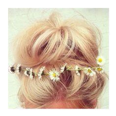 Loose bun with flowers <3