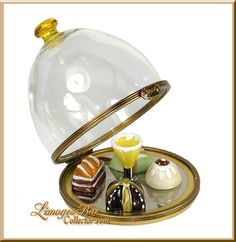 Domed French Pastry Dessert Tray Limoges box