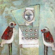 noma bliss art original abstract acrylic mixed media paintings | NOMA