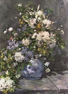 "Auguste #Renoir ""Vase"" / $144 - $604 incl.20% VAT and Shipping / Click http://mondialart.co.uk/product/vase/ #art #painting #mondialart #replica"