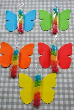 Day 2020 - Decoration, Favors, Activities and Panel Childre.Children's Day 2020 - Decoration, Favors, Activities and Panel Childre. Kids Crafts, Easter Crafts, Diy And Crafts, Butterfly Birthday Party, Girl Birthday, Candy Party, Party Favors, Anniversaire Candy Land, Candy Crafts
