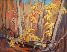 """Autumn Woodland (Algoma),"" Lawren S. Harris, ca. oil on hardboard, 10 x 13 Alan Klinkhoff Gallery. Still Life Fruit, Art Market, Woodland, Graffiti, Art Photography, Art Gallery, Art Deco, Autumn, Fine Art"