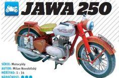 Jawa 250cc Motorbike Paper craft