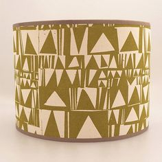 trinary hand screen printed drum lampshade by mintprint | notonthehighstreet.com