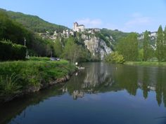 Saint Cirq Lapopie, & the river Lot, Midi-Pyrénées.