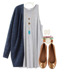 """c is for cardigans"" by livinginhislight ❤ liked on Polyvore featuring H&M, Tory Burch, Kendra Scott, Bee Charming and Kate Spade"
