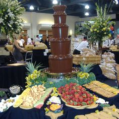 wow! Chocolate Fountains, Dessert Recipes, Desserts, Party Planning, Party Time, Table Settings, Pie, Parties, Favorite Recipes