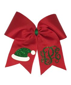 Set off your little one's Christmas photos with this custom monogrammed hair bow. Shipping note: This item will be personalized just for you. Allow extra time for your special find to ship. First Christmas Photos, Christmas Ribbon, Diy Christmas Hair Bows, Christmas Vinyl, Vinyl Monogram, Monogram Design, Cheer Hair, Cheer Bows, Baby Girl Bows