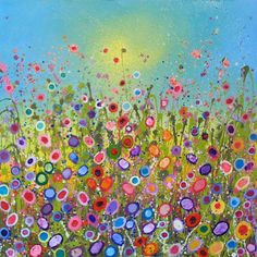 Sweet Kisses by Yvonne Coomber Quirky Art, Whimsical Art, Art Floral, Different Types Of Painting, Rainbow Magic, Beautiful Paintings, Painting Inspiration, Art Images, Painting & Drawing