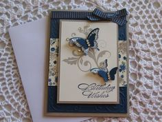Stampin' Up Handmade Greeting Card: Butterfly Birthday Wishes