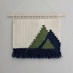 Wall Hanging, Modern Weaving, Christmas Winter Decor, Fiber Art, Tree Art, Minimalist by EastParlor on Etsy