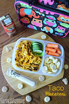 Taco Macaroni for School Lunch #BackToSchool #NaturalFoods
