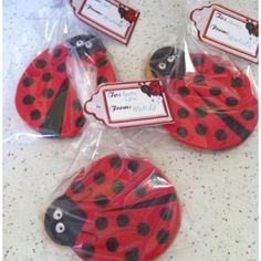 Ladybug cookie favours