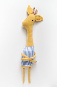Plush Giraffe Friend Finkelstein's Center Handmade от finkelsteins, $46.00