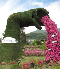 Amazing topiary<---So beautiful! Topiary Garden, Garden Art, Garden Design, Amazing Gardens, Beautiful Gardens, Beautiful Flowers, Parks, Land Art, Hedges