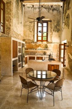 Modern rustic homes - Check out this awesome listing on Airbnb Luxury retreat 50 mins from Merida Villas for Rent House Design, Rustic House, Rustic Kitchen Design, House Interior, Rustic Kitchen, Home, Modern Rustic Homes, Kitchen Design, Home Remodeling