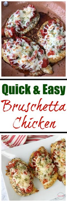 Quick and easy Bruschetta chicken dinner recipe! Italian food in under 30 minutes! via @musthavemom#HuntsHolidayTraditions #ad