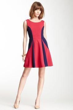 Pink Owl Two-Tone A-Line Dress