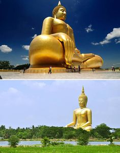 Wat Mung Temple, Aung-Thong, Thailand. THE WORLD'S BIGGEST BUDDHA (95 METRES HIGH)!