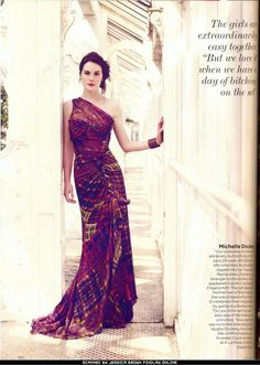 If I had an occasion to wear this ... Downton Abbey, #Vogue, Lady Mary Crawley, Michelle Dockery, #sisters, #PBS