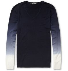 ombre fine knit sweater by neil barrett