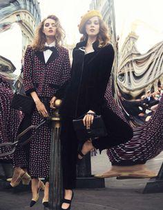 Sanne Vloet, Larissa Hofmann, Melina Gesto by David Bellemere for Vogue Spain September 2015