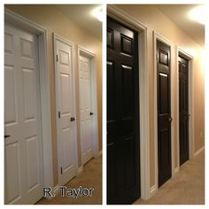 Love my new black hallway doors!