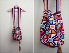 Wayuu Bag  Hand woven Mochila Bag by PARASOLvintage on Etsy