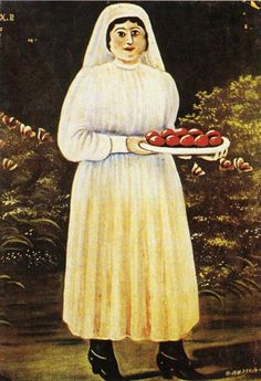 Woman with Easter Eggs