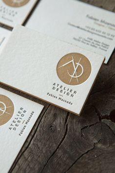 Impression pantone métallique 874U et noir en recto verso sur buvard blanc naturel 500g / business cards in metallic pantone 874U and black: