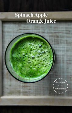 #Healthy Homemade #Recipe for Spinach Apple Orange Juice