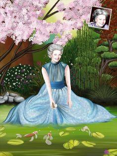Portrait cadeau personnalisé sur le thème du Japon.