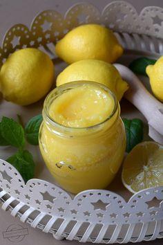 Lemon curd – Smaki na talerzu Snack Recipes, Snacks, Lemon Curd, Preserves, Cantaloupe, Salads, Food And Drink, Vegetarian, Homemade