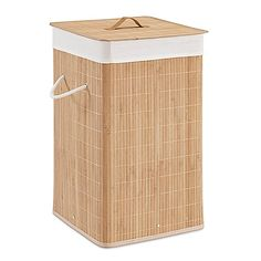 Bring a serene, natural vibe into your home with this Bamboo Hamper in Natural (Set of 2). Sporting a removable, washable, and soft lining inside along with a durable bamboo exterior, you have found the perfect place for your laundry.