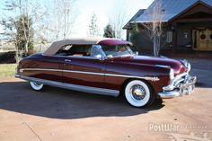 Hudson Hornet convertible 1952. My grandmother was 5 feet tall and used a big cushion under her to drive her Hudson. She always wore a huge brimmed black straw hat. What a sight she was. A true character; )
