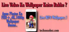 How to Make Live Wallpaper..... Live Wallpapers, Tech, How To Make, Technology