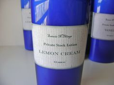 Lemon Cream Private Stock Lotion 4 or 8 oz. by sweetsnthings
