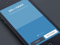 iPhone Flat Animated Landing designed by Jaime de Ascanio. Mobile Ui Design, App Design, App Login, Animated Icons, Ui Animation, Pinterest Design, Splash Screen, Ui Design Inspiration, Application Design