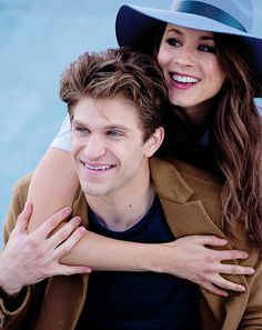 Keegan and Troian for the #BecomeWithUs ABC Family Photo Shoot