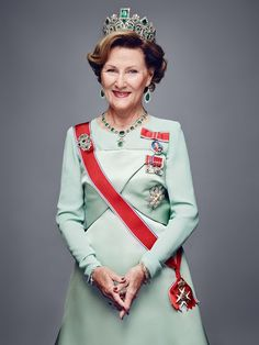 New official photographs of the Norwegian Royal Family have been released on the occasion of the King and Queen's 25th anniversary of ascension to the Norwegian throne.