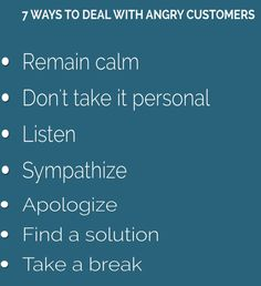 Handling angry customers can be one of the most challenging aspects of a job. Whether you handle your customers face-to-face, or over the phone, chances are you are going to be met with frustration, anger and attitude. The key to successfully managing an angry customer is to remain calm, sympathize and apologize. Remember, the customer is always right.  #businessTips #entrepreneurs #startups #success #hardwork  #customers #oman #kuwait #bahrain #uae #dubai #mydubai #gccnews…