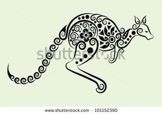 Google Image Result for http://image.shutterstock.com/display_pic_with_logo/940828/101152390/stock-vector-decorative-kangaroo-animal-and-floral-ornament-for-tattoo-design-101152390.jpg