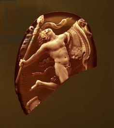 Cameo of a Dancing Satyr, 1st century BC (agate and onyx)