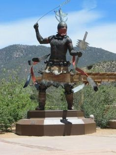 Apache Warrior sculpture at the Museum of Indian Arts & Culture - Santa Fe, New Mexico