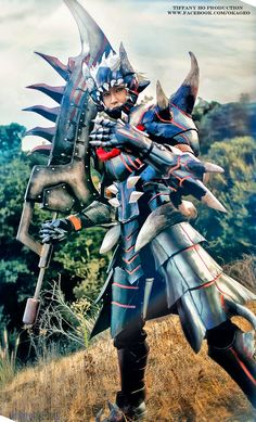 Okageo in Akantor Armor from Monster Hunter View more of the Akantor Armor at http://dailycosplay.com/2013/April/21b.html  #cosplay