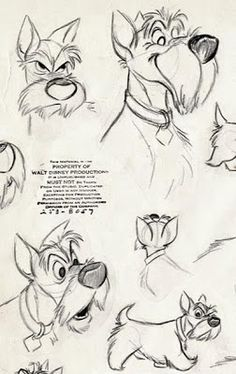 """Living Lines Library: Lady and the Tramp - Character Design > Model Sheet. - Model Sheet…""""> Living Lines Library: Lady and the Tramp – Character Design > Model She - Cartoon Cartoon, Drawing Cartoon Characters, Cartoon Drawings, Art Drawings, Drawing Faces, Cartoon Illustrations, Animation Sketches, Drawing Sketches, Dog Sketches"""