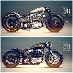 Motorcycle - HARLEY 1948 Bobber Holographic Hammer #motorcycles #bobber #motos…