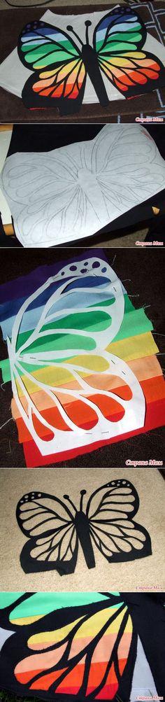 Лоскутная бабочка для швейных изделий. - Лоскутное Шитьё - Страна Мам | Идеи из ткани | Постила Art Club Projects, Fall Projects, Arts And Crafts Projects, Applique Designs, Quilting Designs, Paper Art, Paper Crafts, Butterfly Quilt, Toddler Crafts