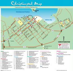 christiansted road map st croix