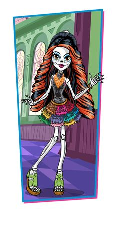 Skelita Calaveras is so cute i want to be her